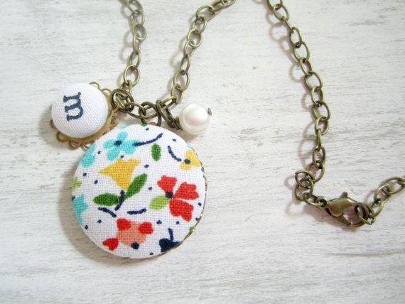 Initial Necklace Monogram Necklace Personalized por clammyscloset, $24.00