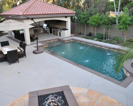 One Day Add On A Gazebo Rectangle Pool Backyard Patio Designs