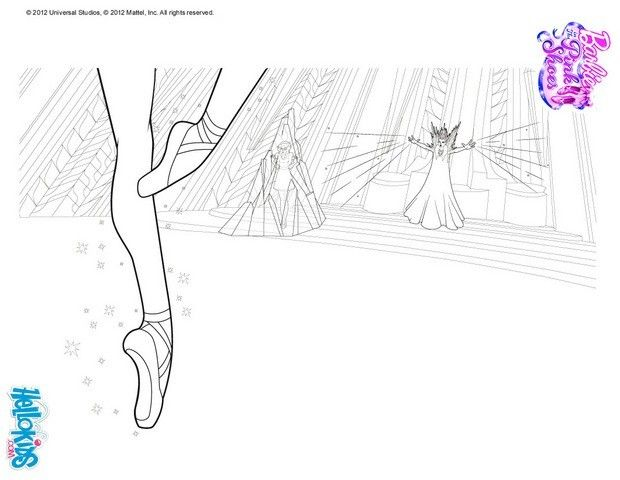 Magical Pink Ballet Shoes Coloring Page More Barbie Ballerina Coloring Sheets On Hellokids Com Barbie Coloring Pages Coloring Pages Pink Ballet Shoes