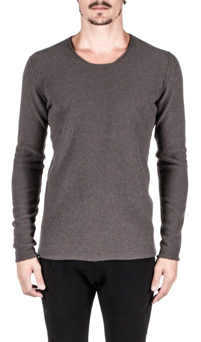 Label Under Construction Punched Sweater In Medium Grey