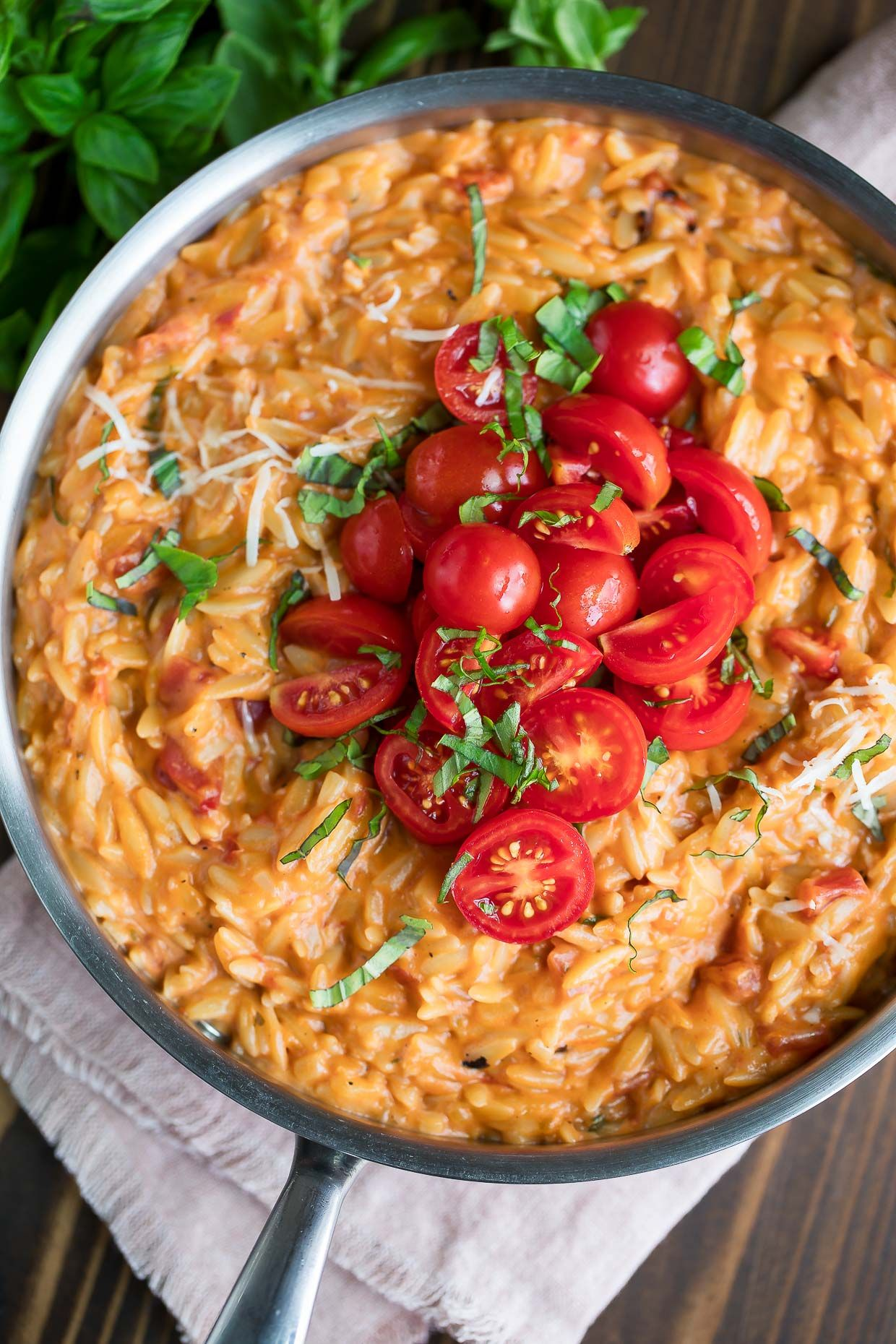 Creamy Tomato Orzo - Peas and Crayons