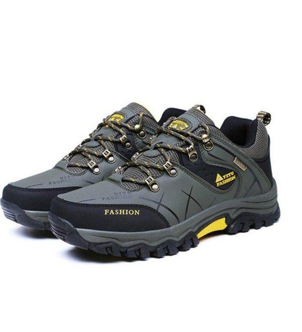 cc5c35a4090d Mens Waterproof Hiking Shoes Warm High-Top Low-Cut Outdoor Warm ...