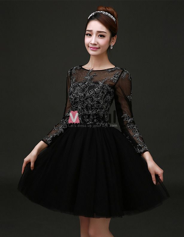 Long Sleeve Formal Cocktail Dress