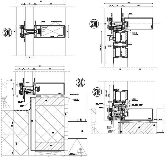 3d Facade Curtain Wall Detailing 2d Drafting Structural Glass