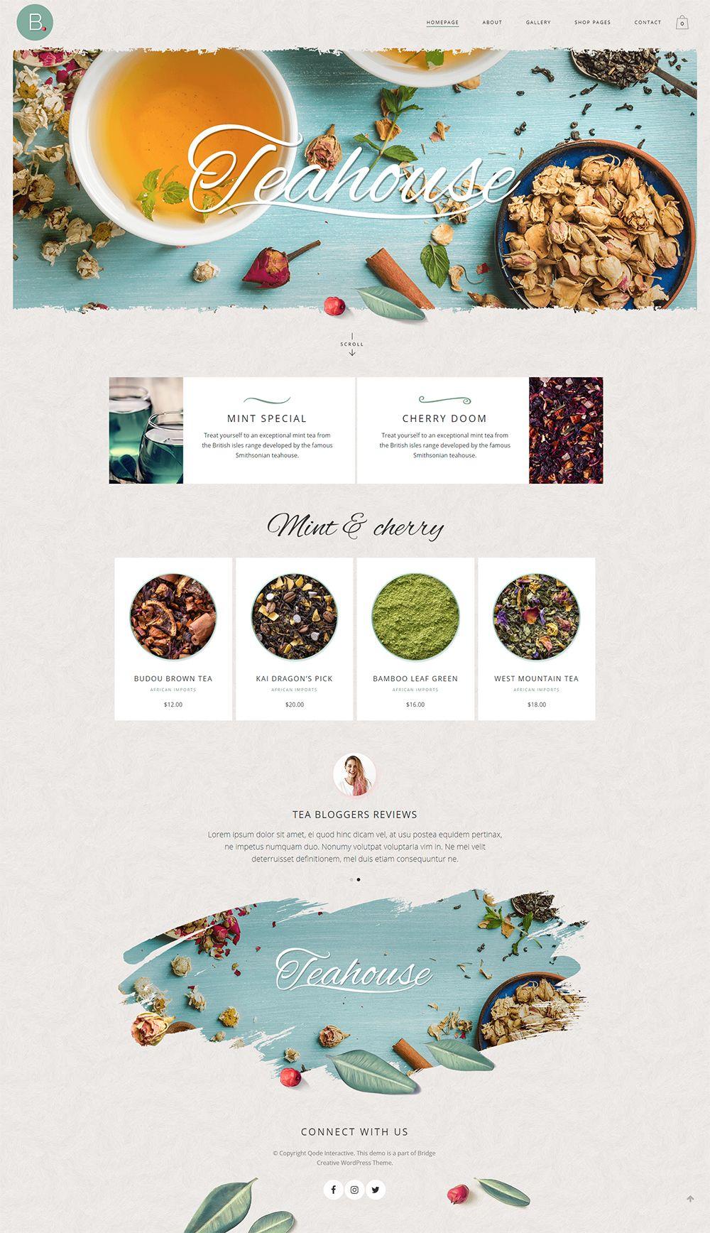 Веб дизайн сайта Лендинг Чай Органичные продукты Еда Кафе Ресторан Кофе lending page tea website