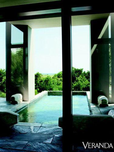A modern pool from Nancy Braithwaite #architecture PISCINA
