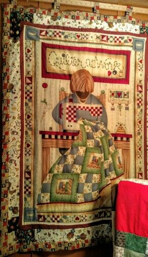 quilter at work
