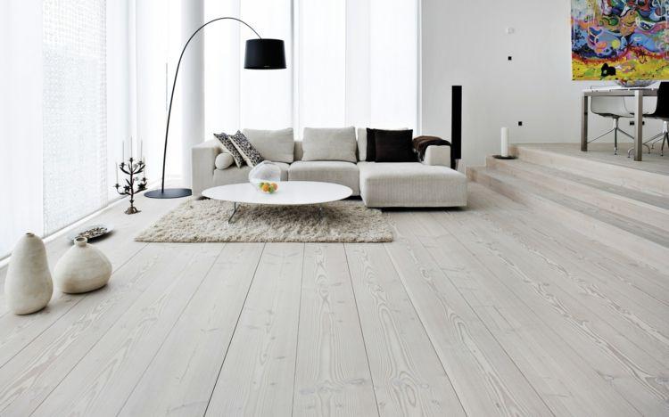 Holzfußboden Weiß ~ Weißes holz für das parkett wirkt sehr rein und elegant wohnträume