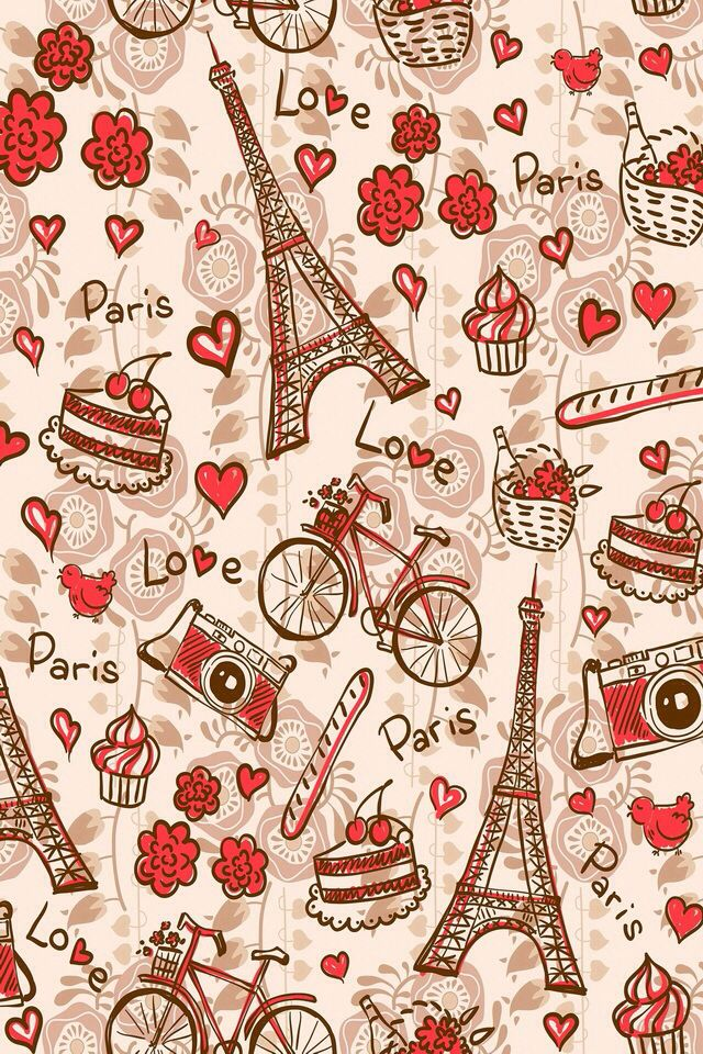 Paris Pattern Cute BackgroundsVintage