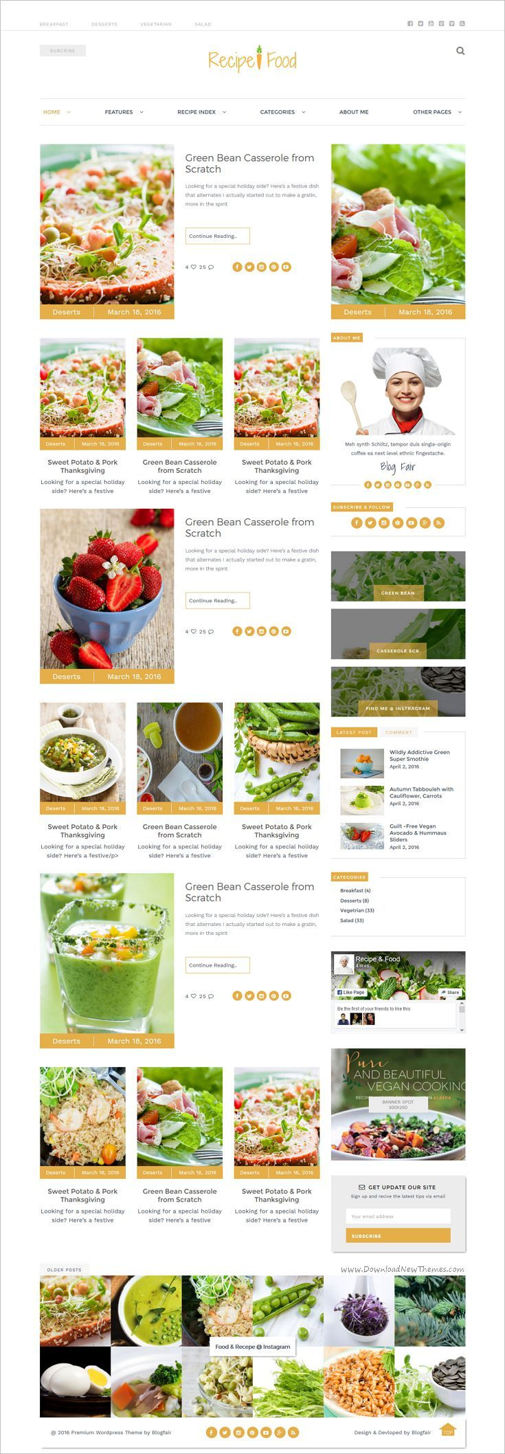 Recipe food bootstrap template recipe websites template and recipe food is a wonderful responsive html5 bootstrap template for food and forumfinder Choice Image