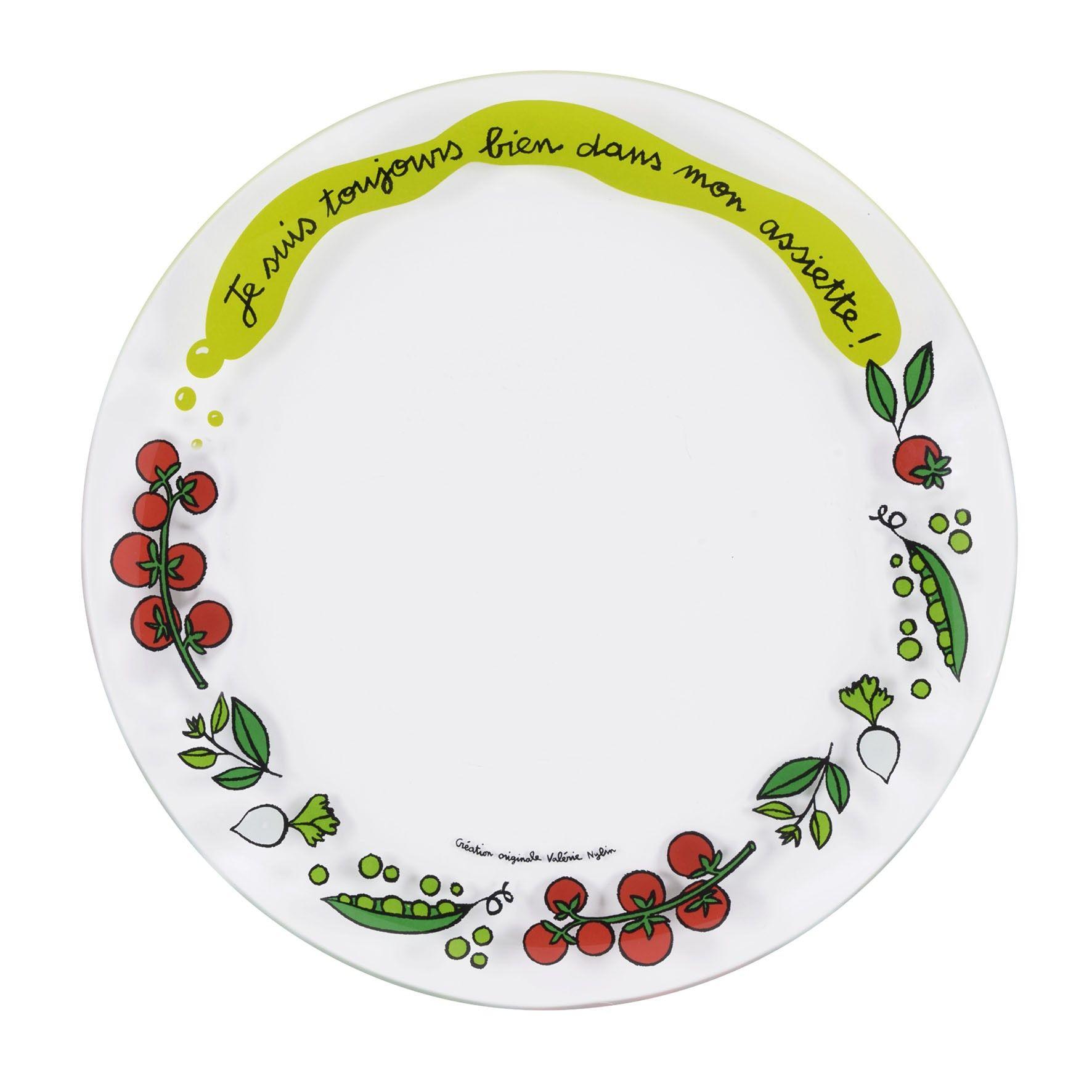 Assiette plate toujours set de 4 derri re la porte dlp for Accessoire vaisselle