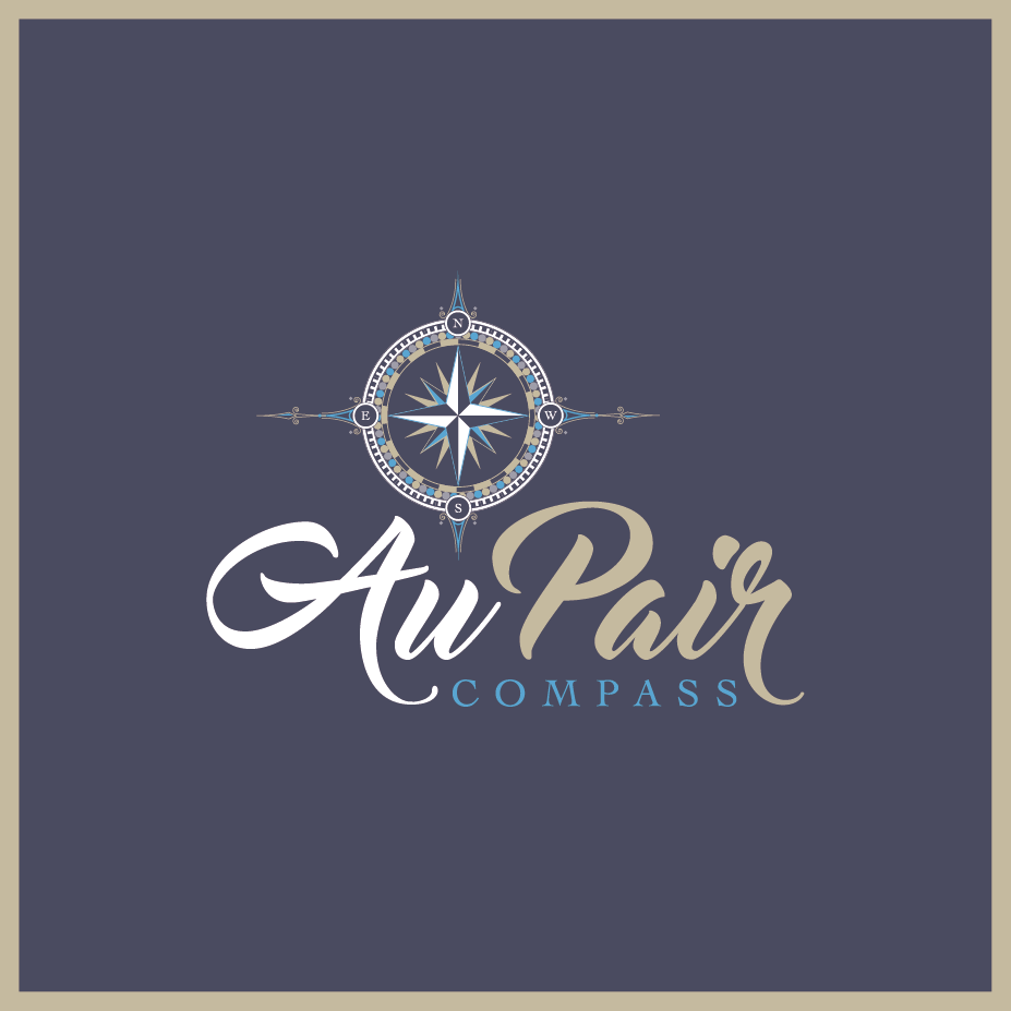 Logo Design by RFH for Au Pair Compass Logo for working mums around world to…
