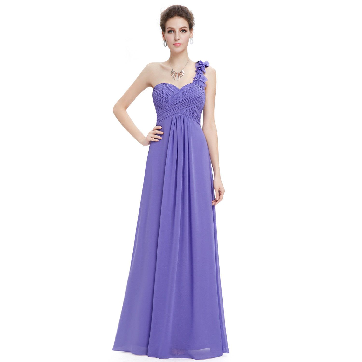 Nice Awesome One Shoulder Prom Party Periwinkle Bridesmaid Dresses ...