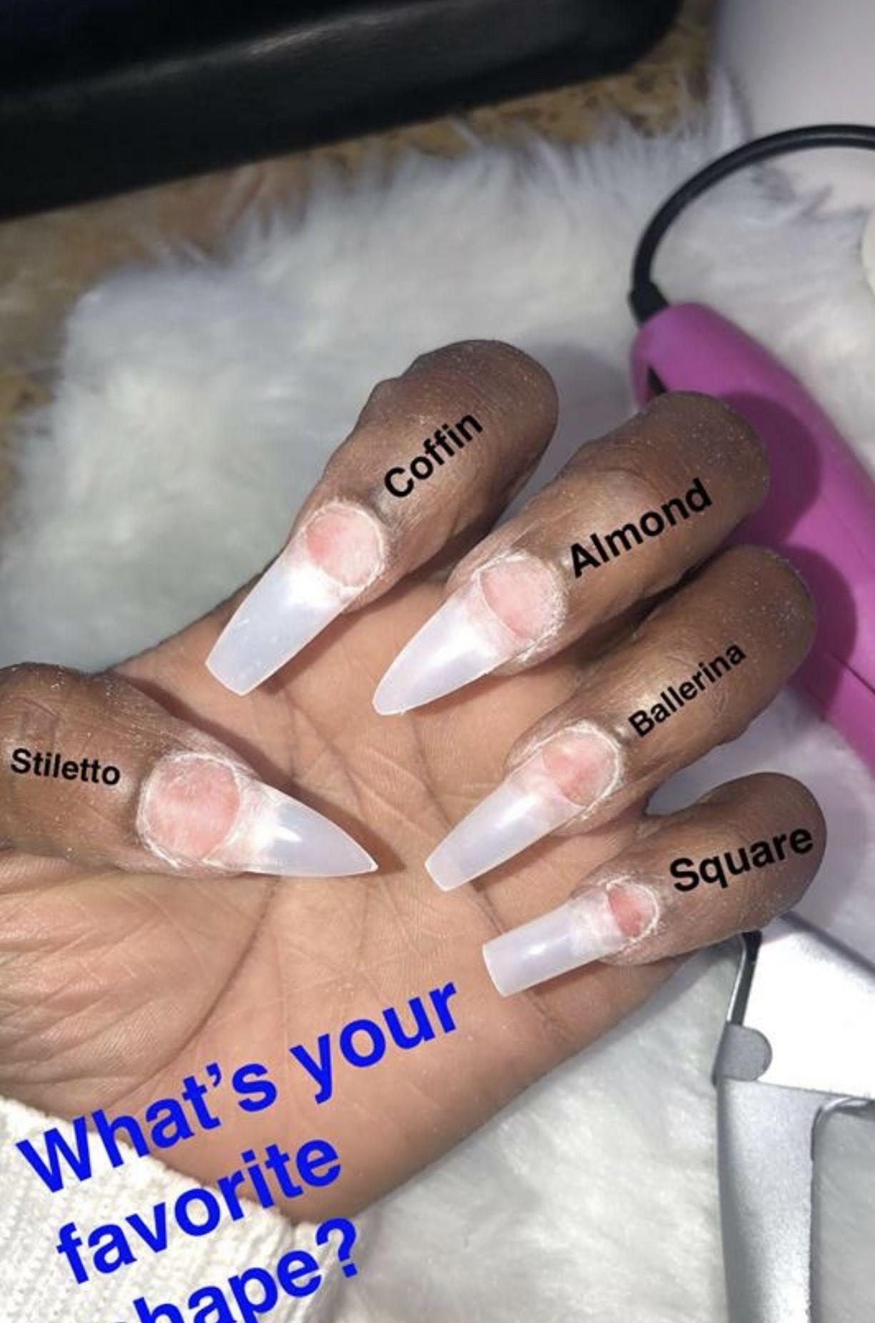 Follow Me Arianna Ballerina Style Nails Pretty Acrylic Nails Cute Acrylic Nails