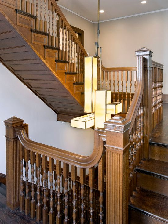 Best Window Elegant Traditional Victorian Staircase With Teak 400 x 300