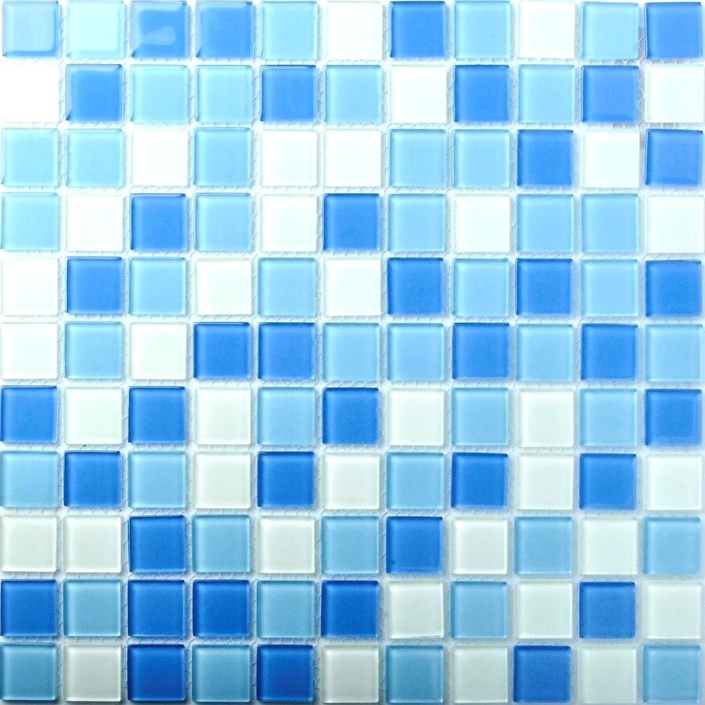 turquoise glass tile backsplash blue glass tile wavy blue random ...