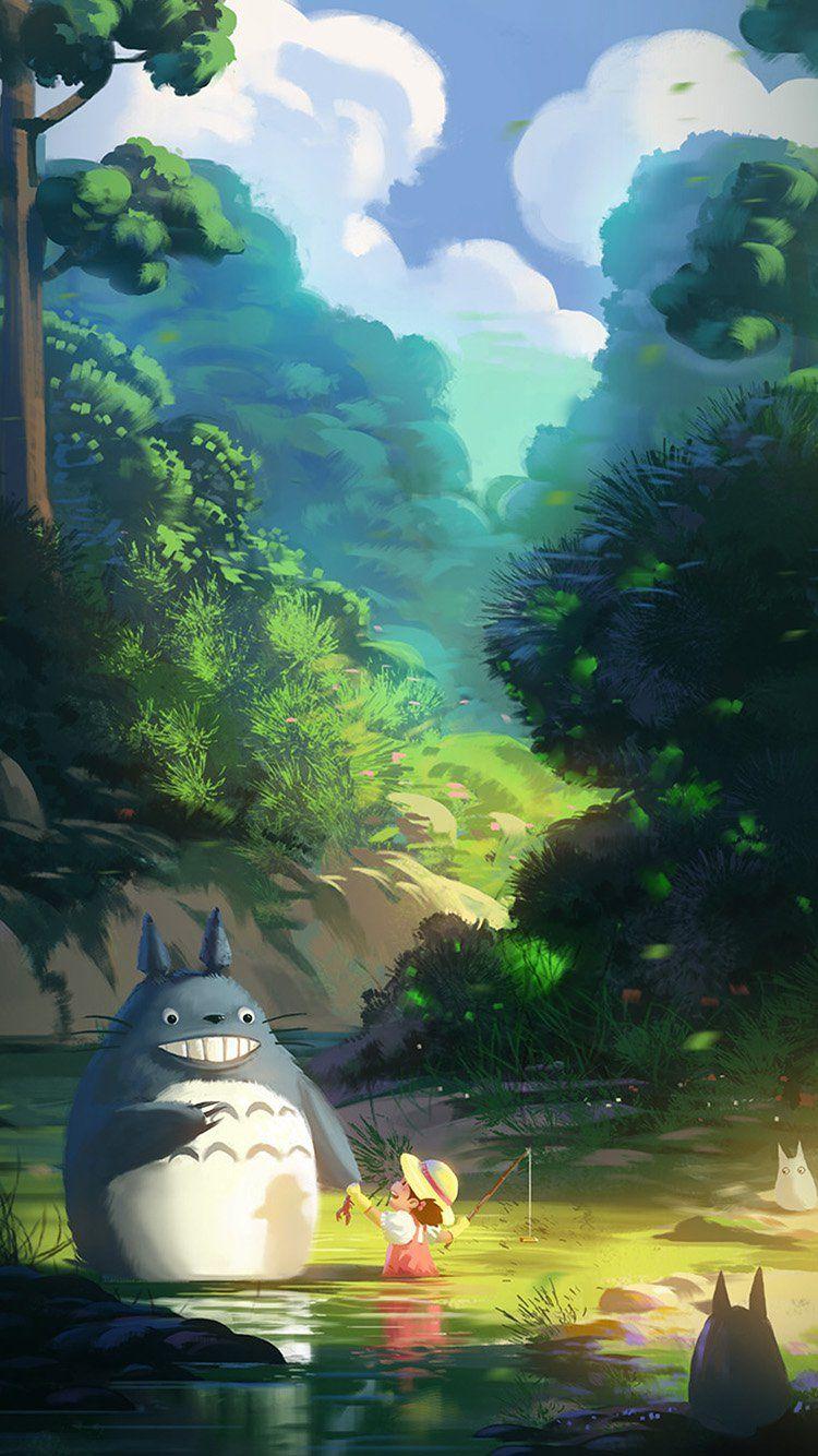 Get Wallpaper Bitly 2hw6wgk Av33 Totoro Anime ArtStudio Ghibli