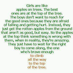 If only we could convince every teen girl that this is true...love this quote!
