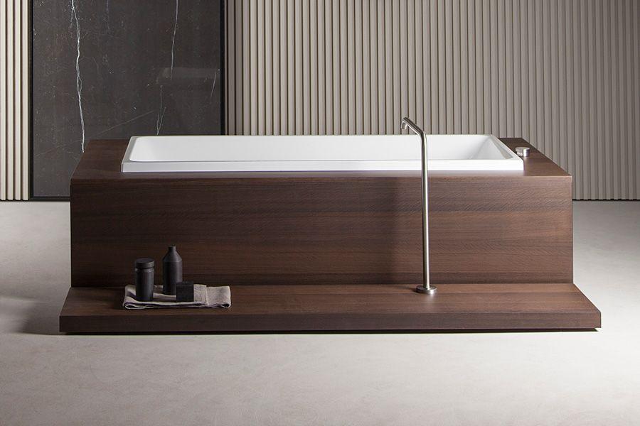 Rivestimento In Legno Per Vasca Da Bagno : Vasca in appoggio da rivestire time bathroom pinterest
