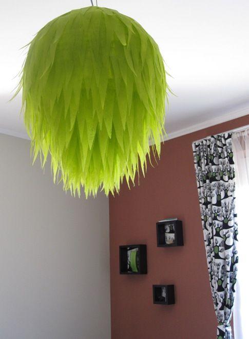 ikea hack regolit pendent l shade in a new coat sajat otthon projekt green