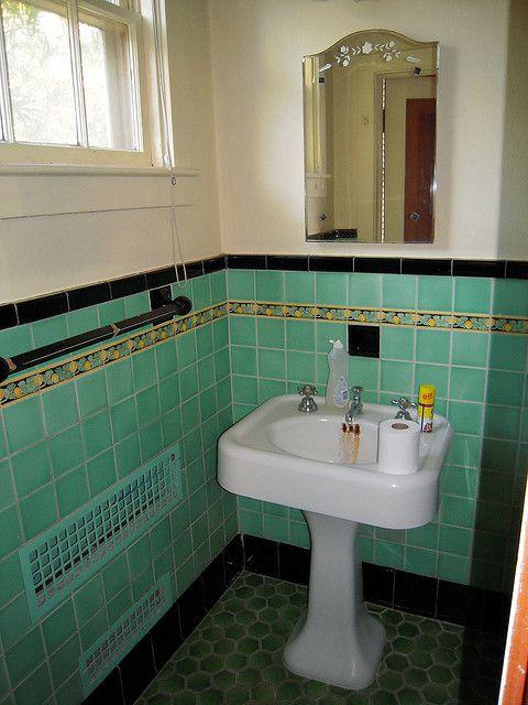 1932 Green Bathroom Sink Green Tile Bathroom Green Bathroom