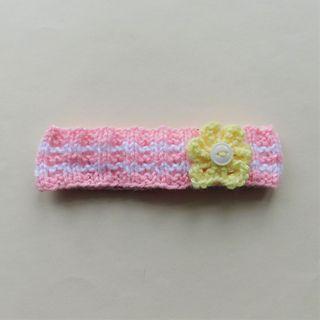 Summer Flower Headband in 2020 | Headband pattern, Knitted ...
