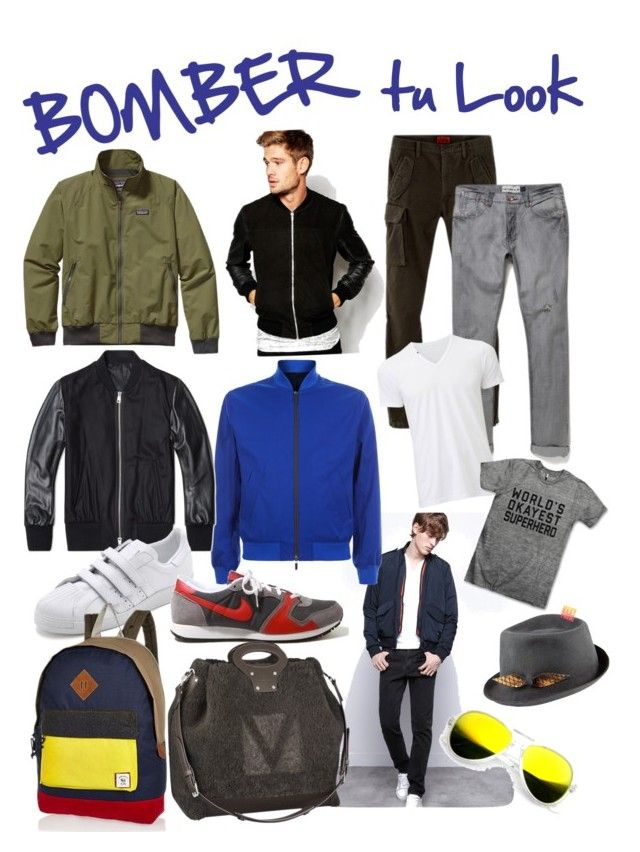 """""""Bomber tu look"""" by coolturecr on Polyvore featuring Patagonia, Zadig & Voltaire, Hardy Amies, AMI, A.P.C., Louis Vuitton, Justine Hats, Uniqlo, Revo and SELECTED"""