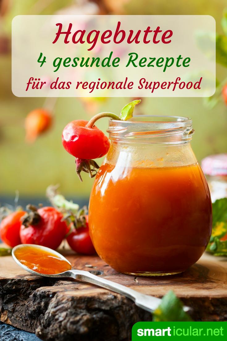 Hagebutten gehören zu den Vitamin-C-reichsten Früchten und gelten als heimisches Superfood. Mit diesen Rezepten bringen sie dich gesund durch den Herbst.