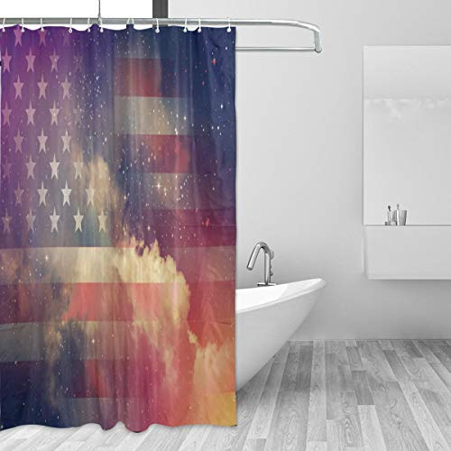 Wxlife Usa American Flag 4th Of July Shower Curtain Holiday