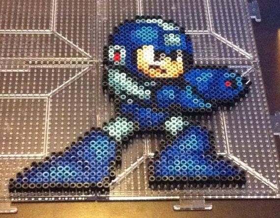Mega Man Perler Bead Sprite Art MAGNET by SDKD on Etsy