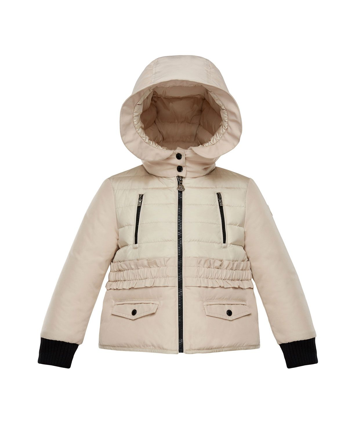 26b76bd0b Adonise Two-Tone Ruffle-Trim Hooded Jacket Size 8-14   Products ...
