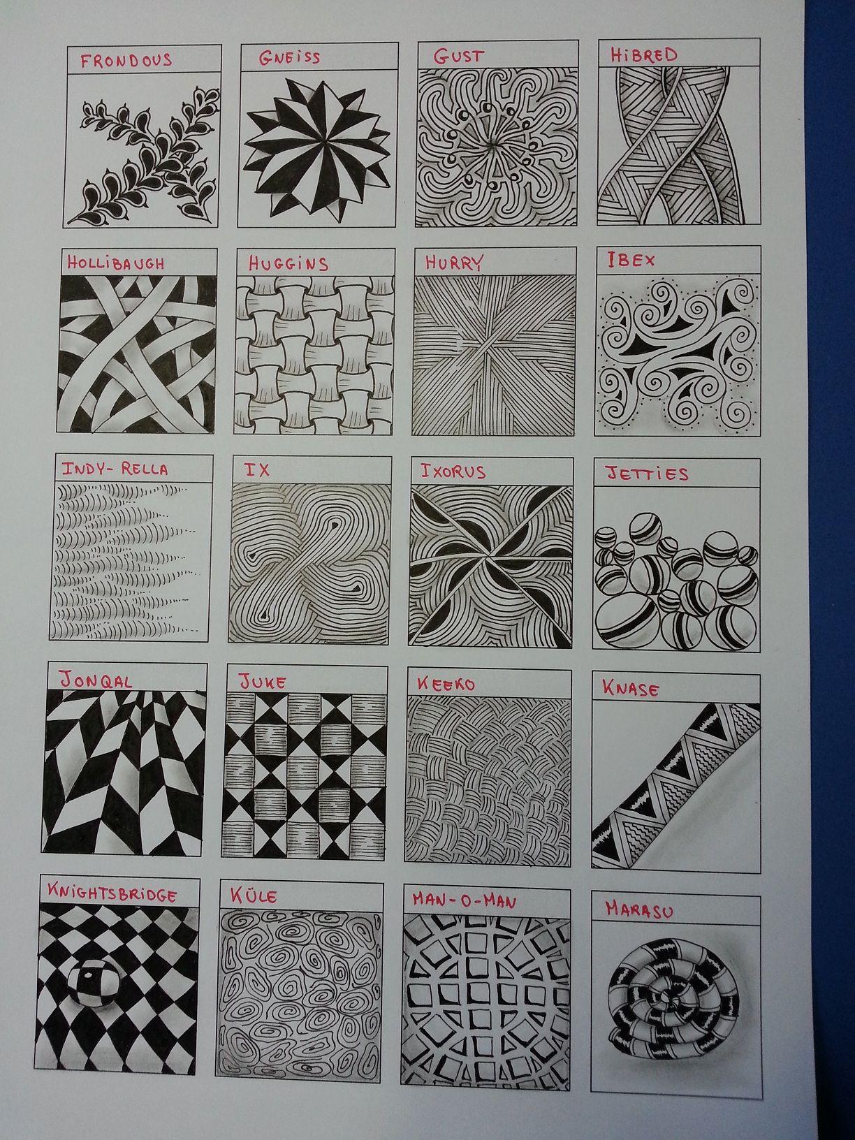 Zentangle Pattern Chart