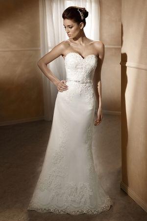 Satin Slim A-line Wedding Dress   Wedding Dress   Pinterest ...