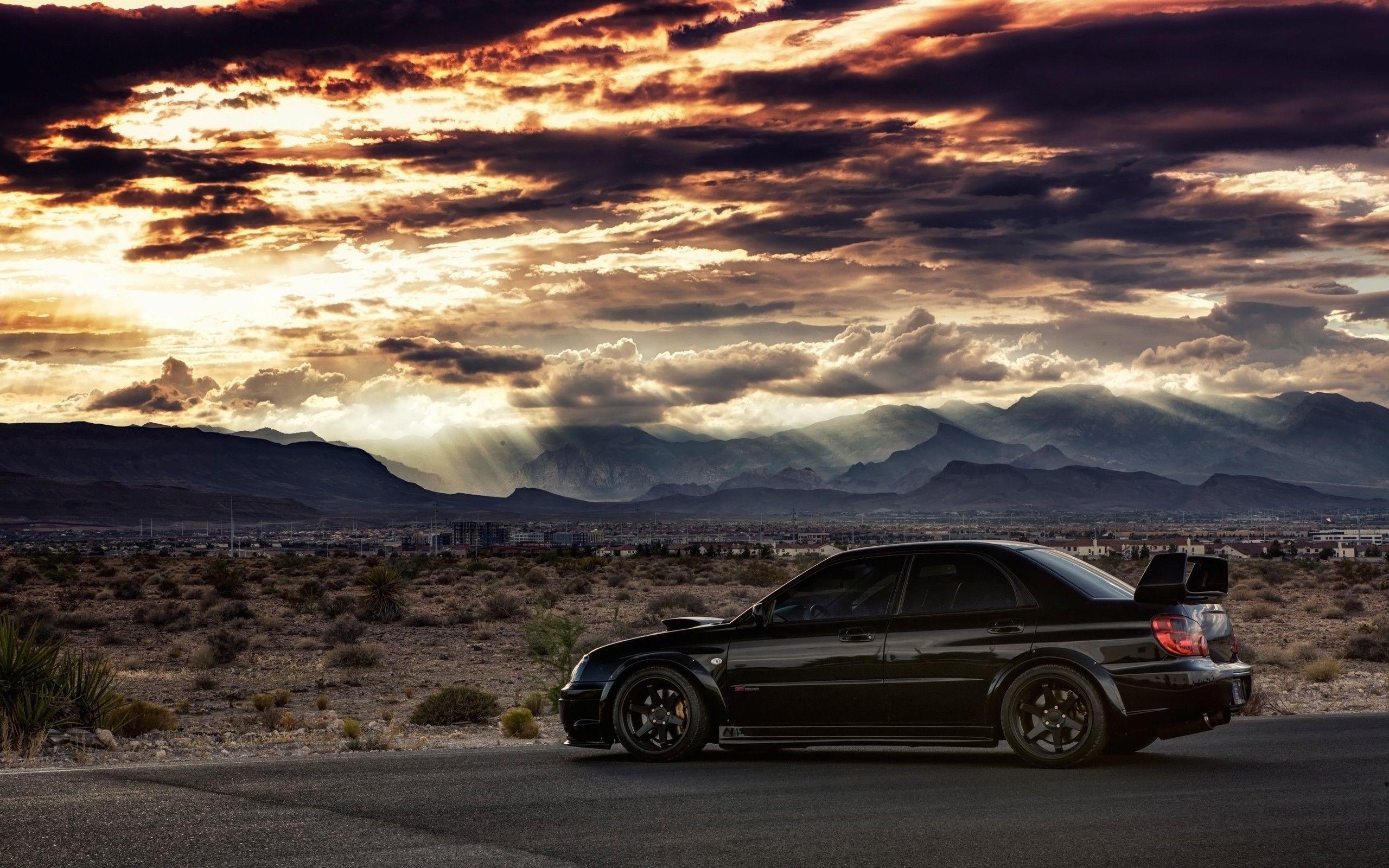 Sti Hd Wallpapers Subaru Wrx Wrx Subaru Impreza Hd wallpaper subaru black car road