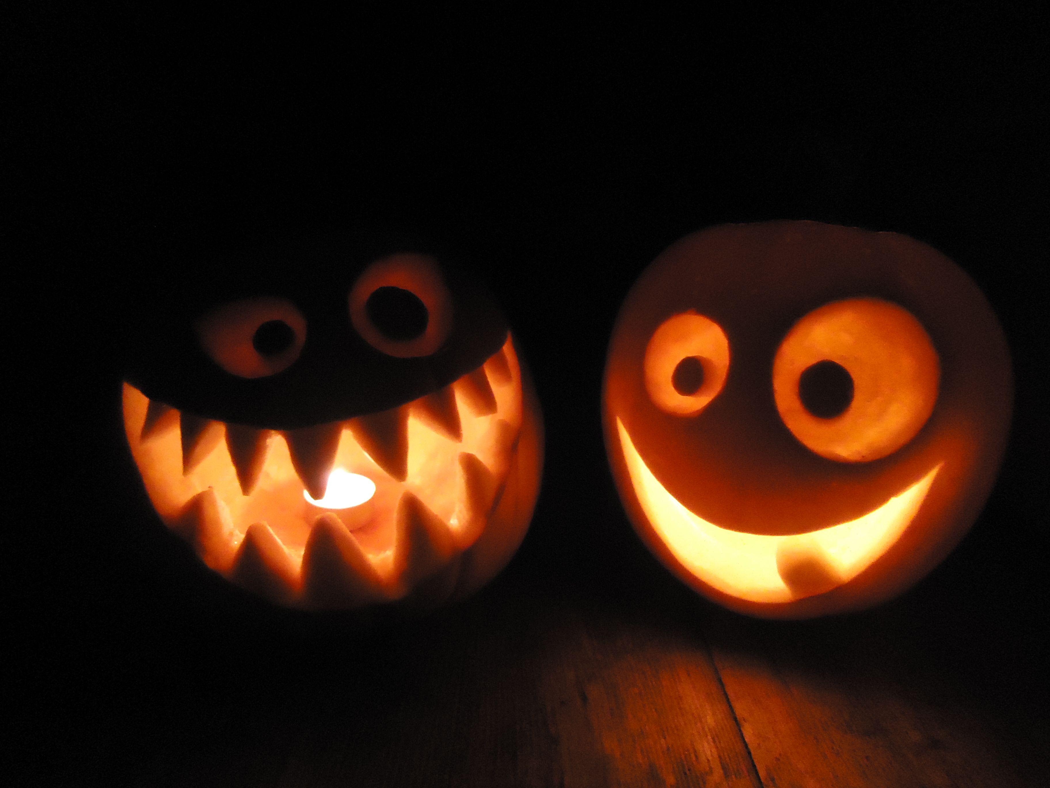Spooky Silly Pumpkin Carvings Halloween Light Craft