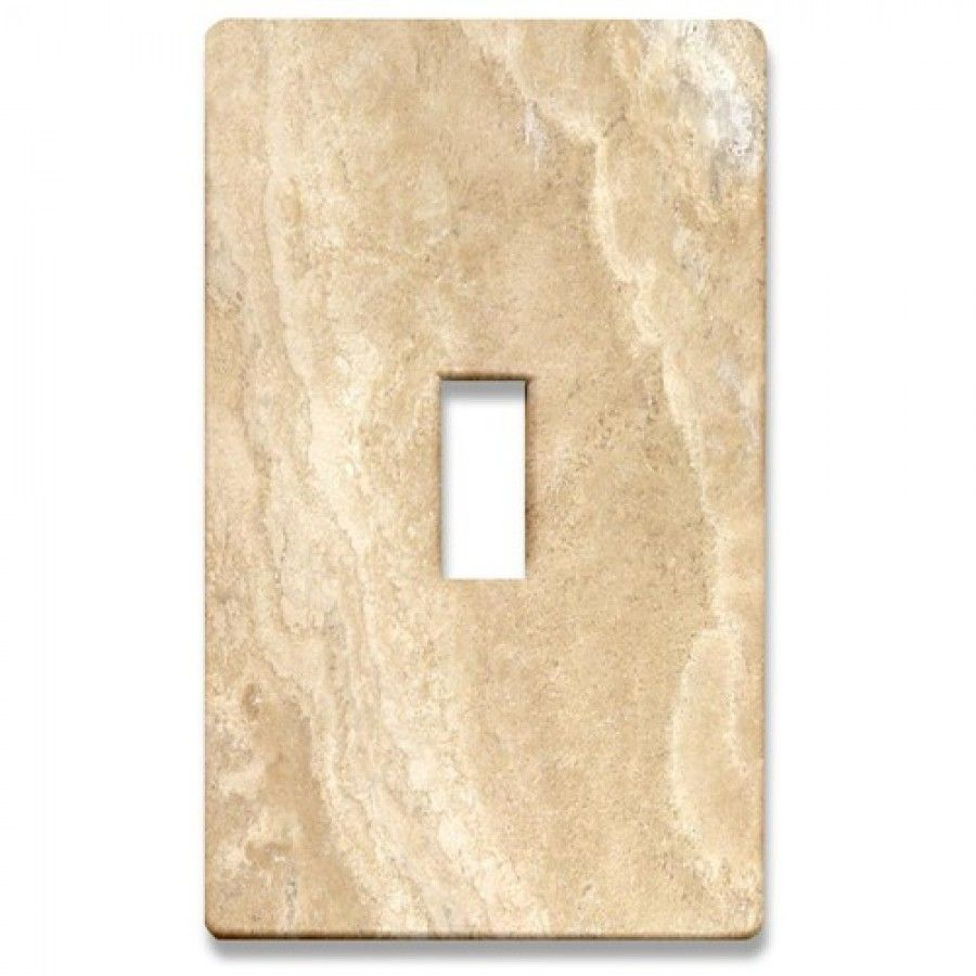Lighting Accessories Beige Marble Decorative Light Switch Cover ...