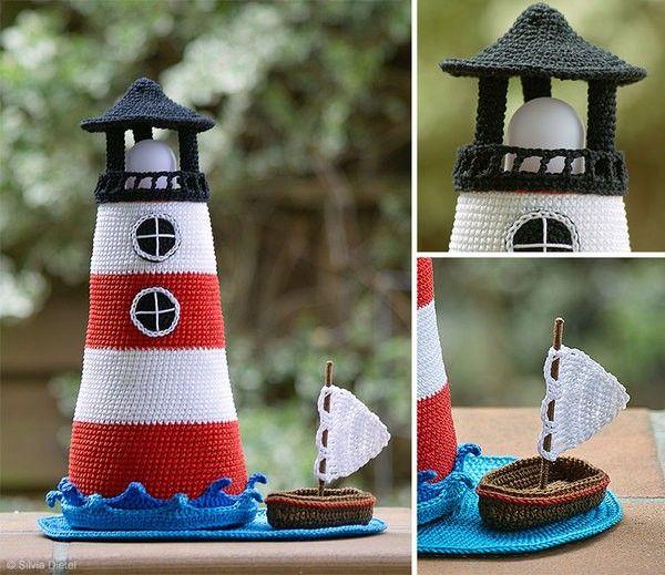 Häkle Dir jetzt einen schönen Leuchtturm mit einem Boot dabei, das ...