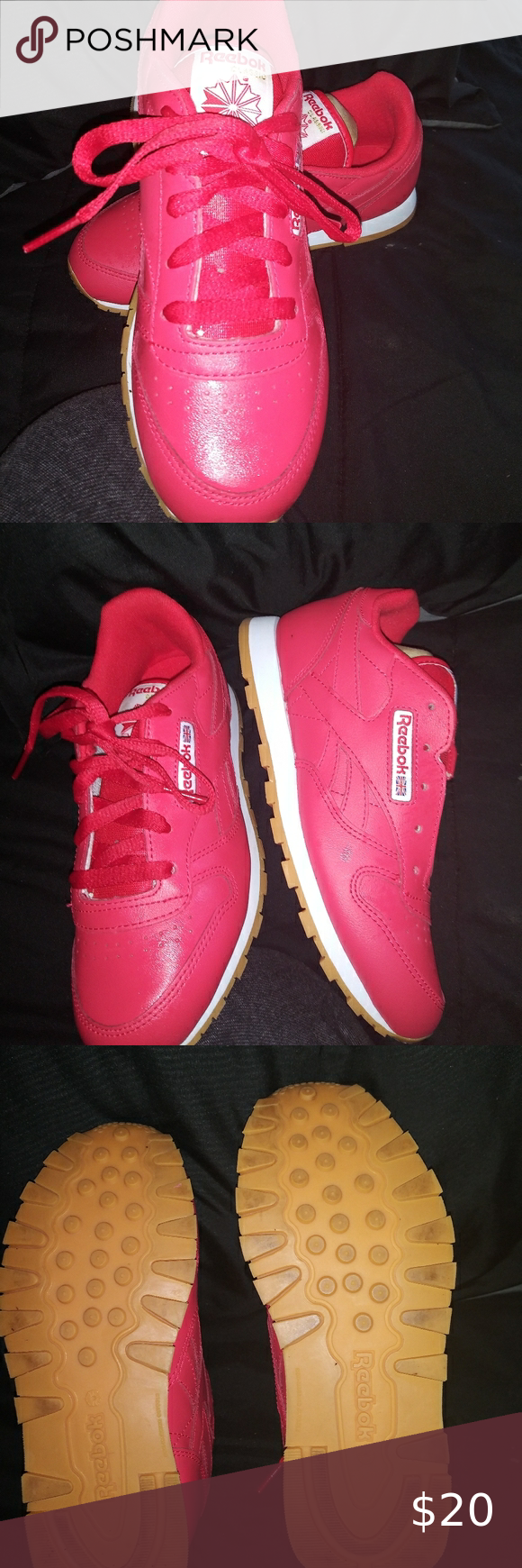 Red Reebok tennis shoes in 2020   Red