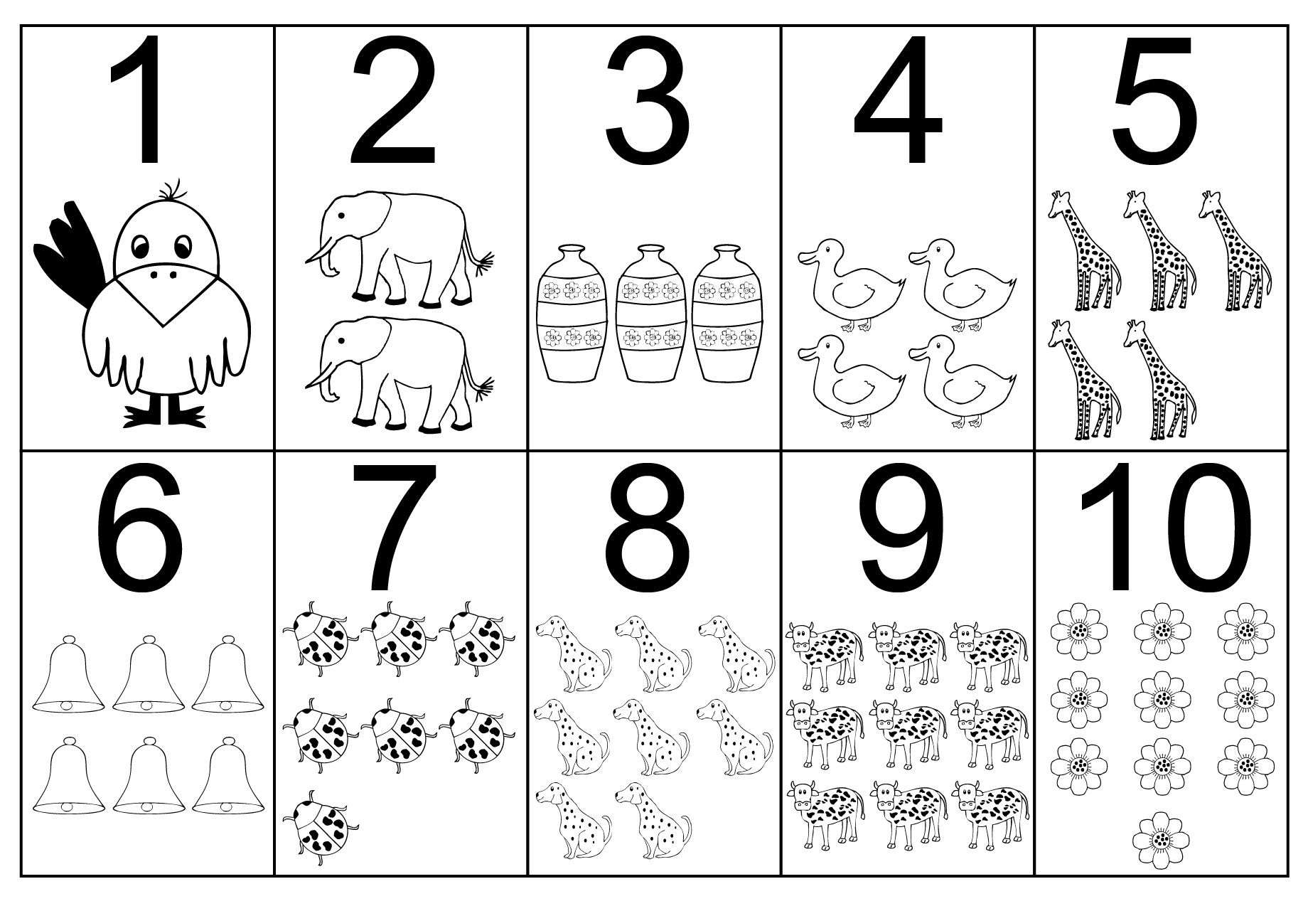 Easy Number Coloring Pages Ideas For Toddlers