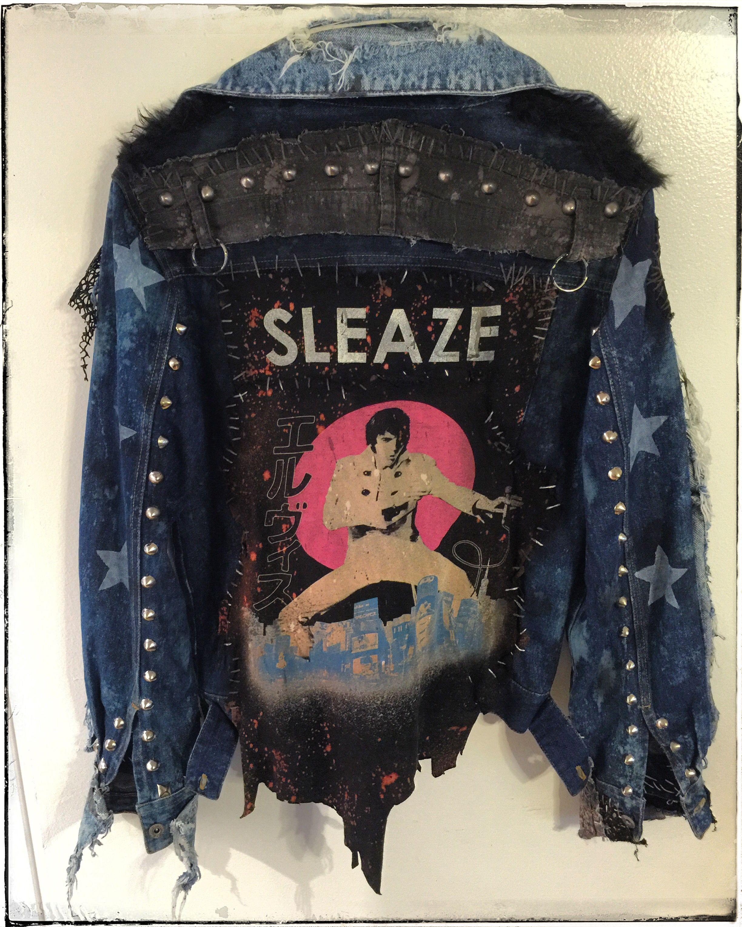 280ff2915 Sleaze Elvis jacket from Chad Cherry Clothing. Denim jacket ...