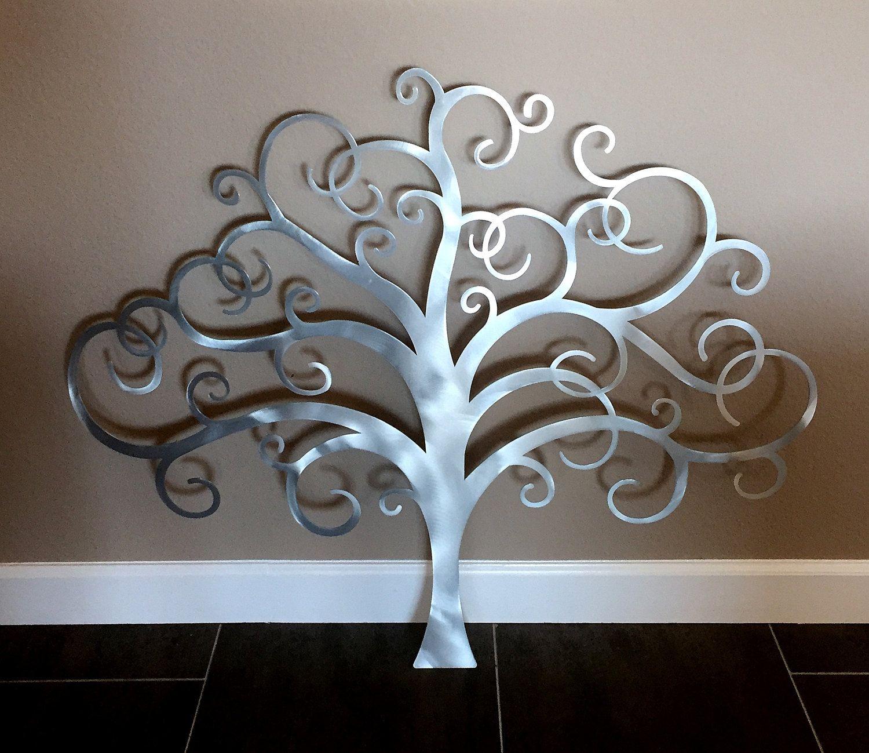 Metal Tree Wall Art, Tree of Life Wall Decor, Metal Tree Wall Art ...