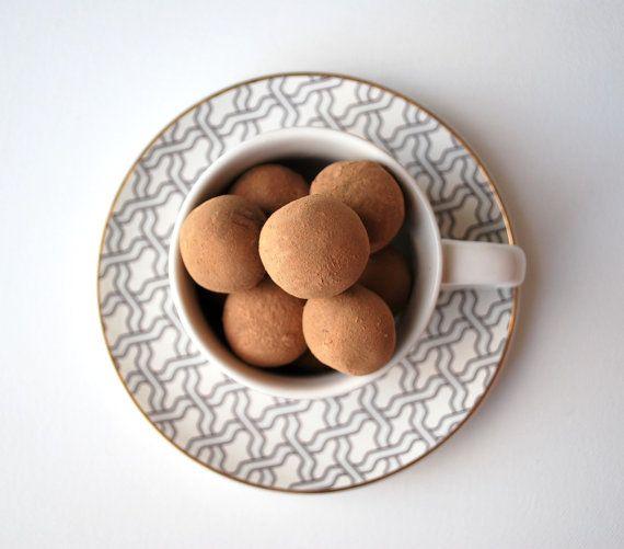 Dark Chocolate French Vanilla Espresso Truffles  Box by KitsuneTea, $13.00