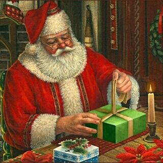 santa claus is probably busy wrapping presents christmas is nearly here santa claus wrapping paper presents christmas elves elf ilovesanta - Santa Claus Presents