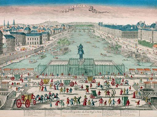 The Pont Neuf In The 18th Century Paris History French Images Historical Illustration