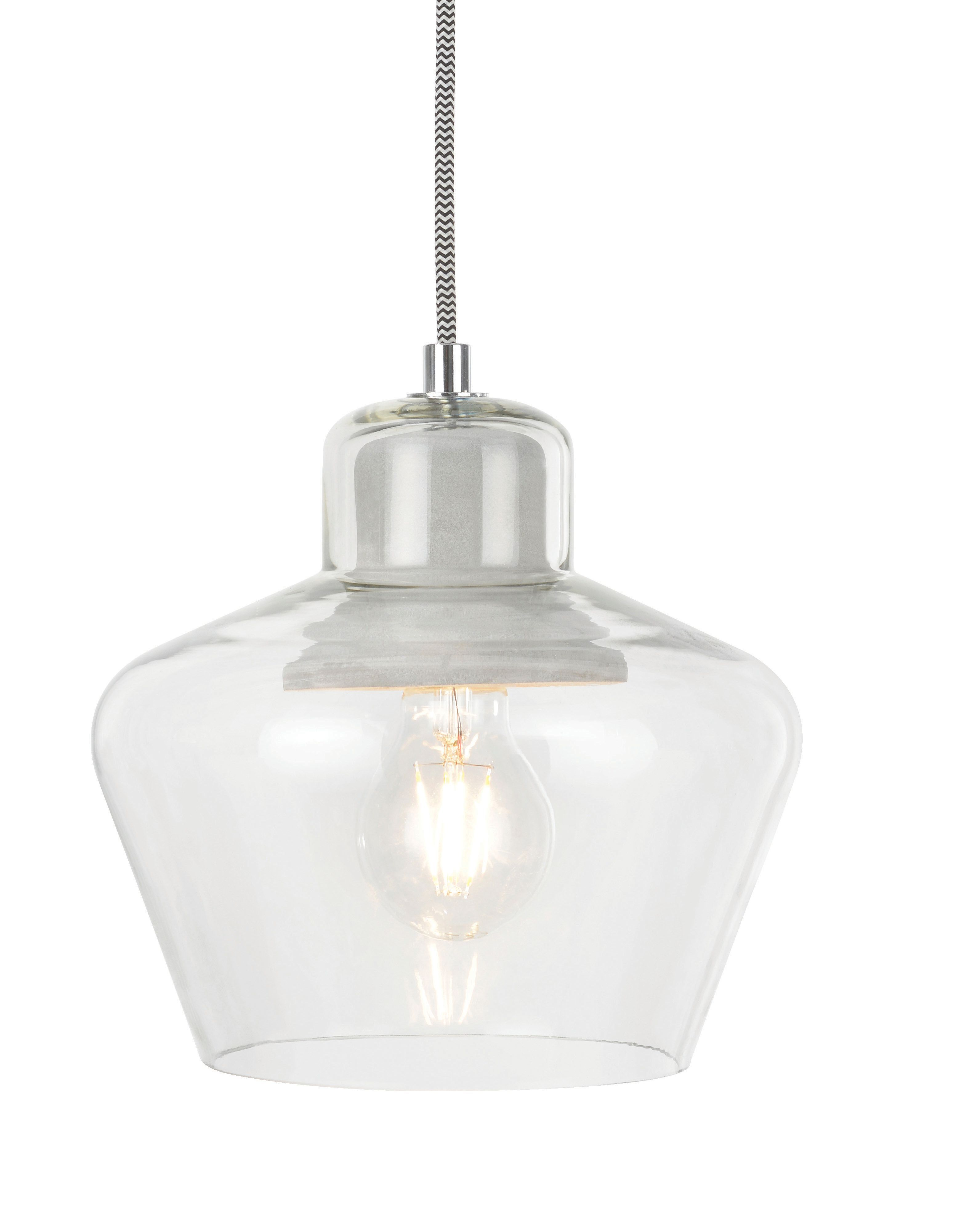Jidda clear pendant ceiling light small pinterest ceiling jidda clear pendant ceiling light small departments diy at bq mozeypictures Image collections