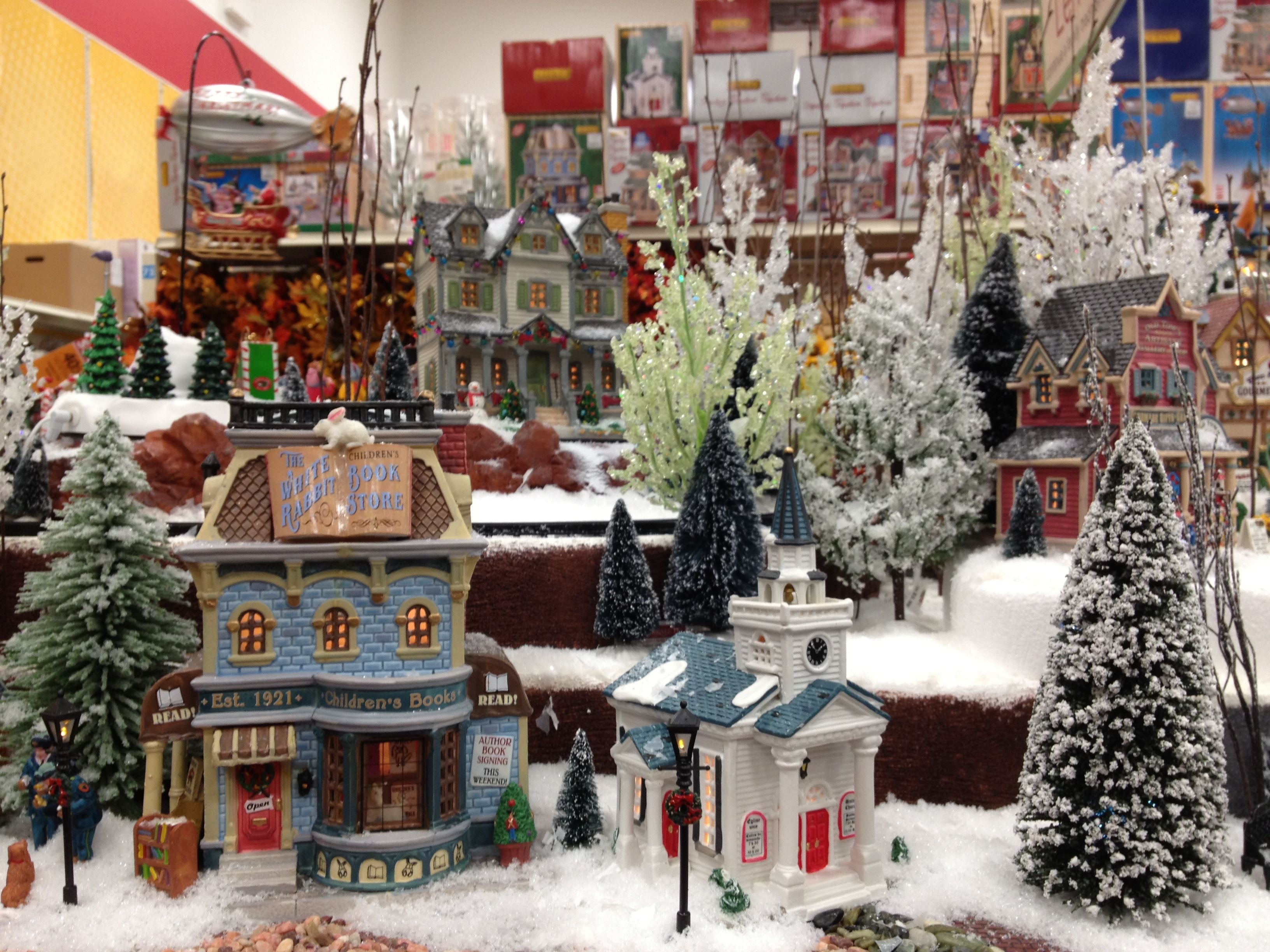 christmas lemax display 2012 at michaels love the foamledge display - Christmas Village Sets Michaels