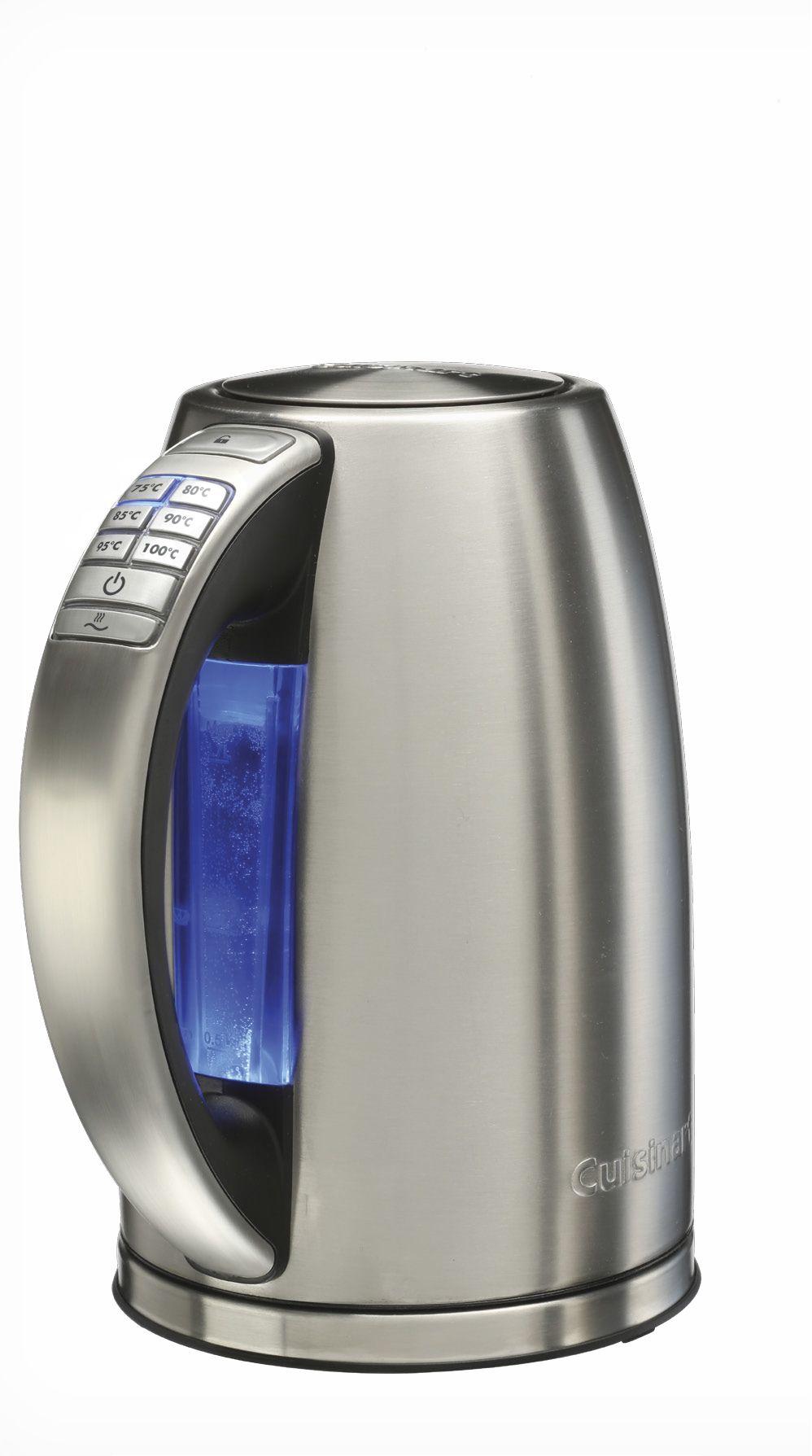 CPK18E - Bouilloire acier brossé, 6 températures, fonction maintien au chaud, capacité de 1,7 litres, 2750W