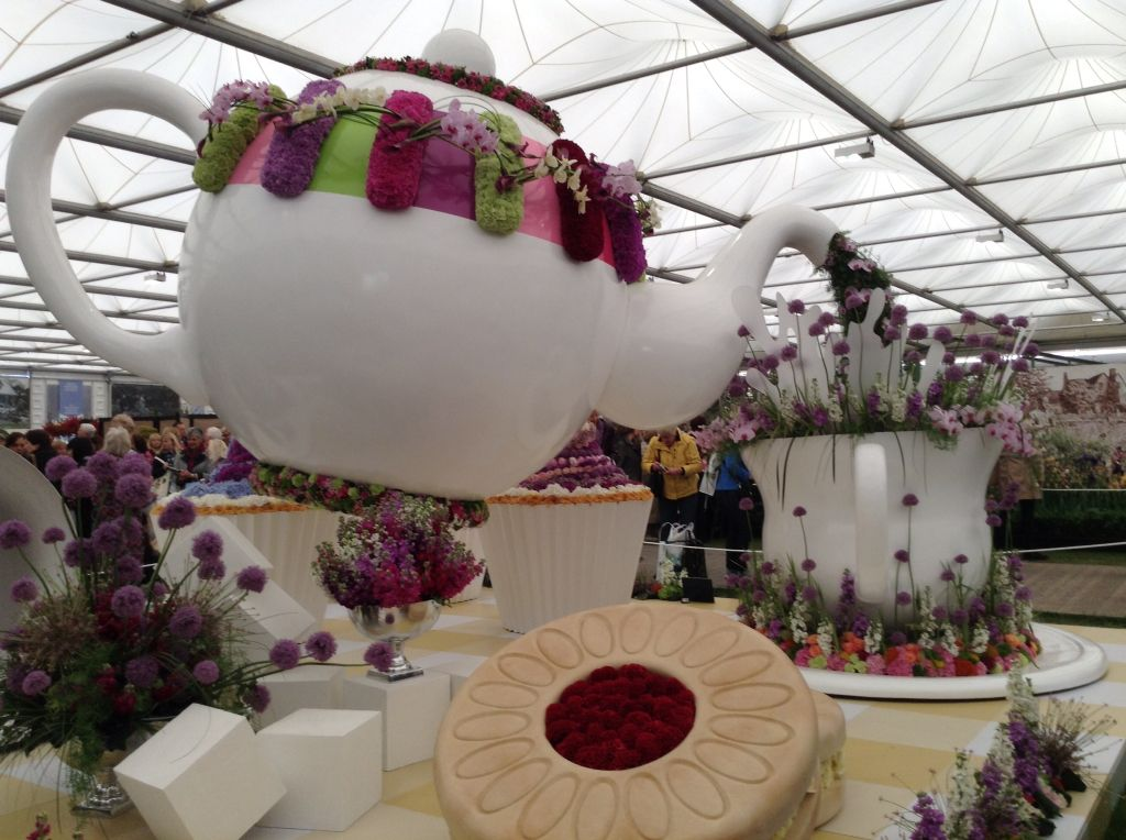 Time for tea exhibit at the Chelsea flower show 2015