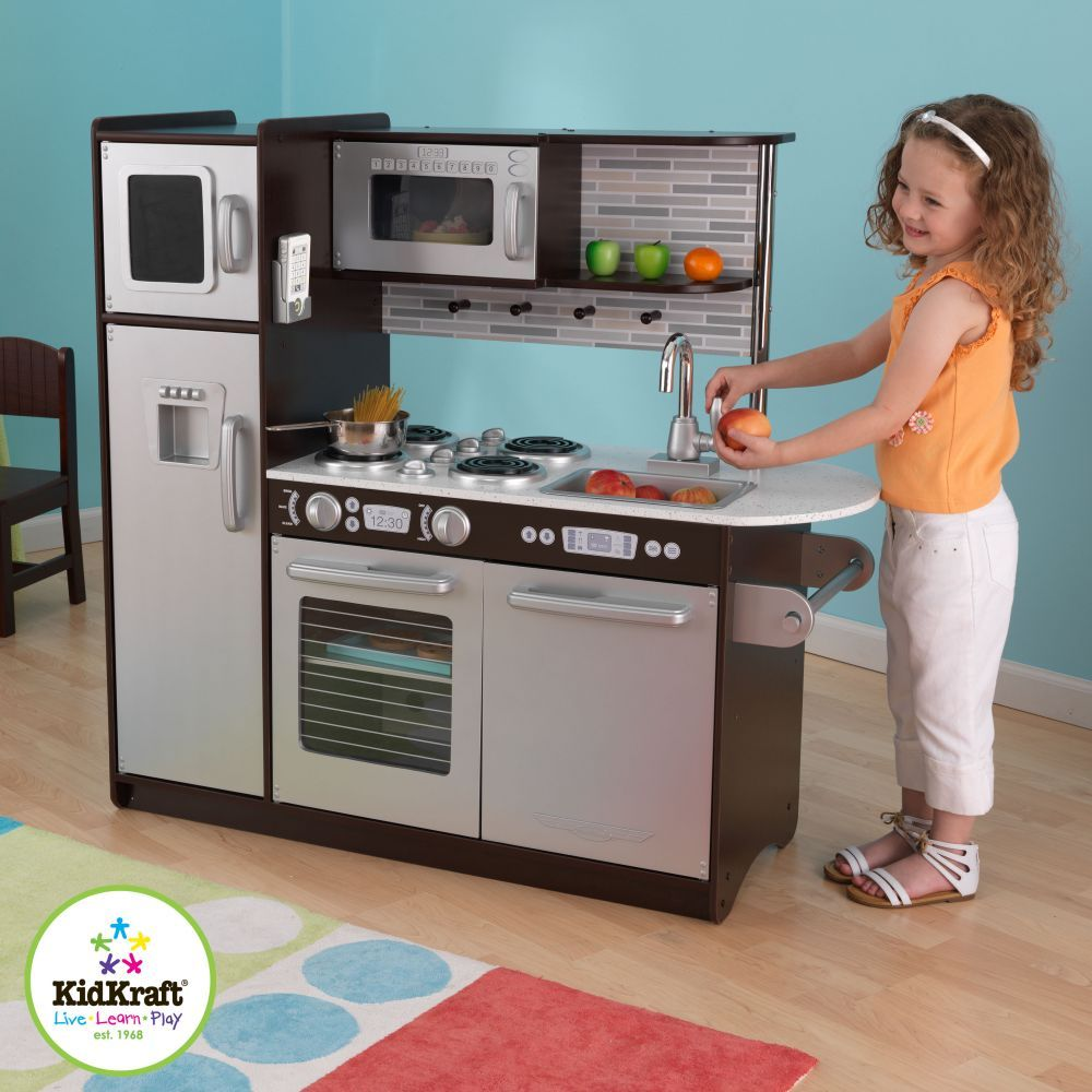 Kidkraft Küche Espresso Városi Konyha Espresso / Uptown Espresso Kitchen – Kidkraft | Uptown Kitchen, Kids Play Kitchen, Kidkraft Kitchen