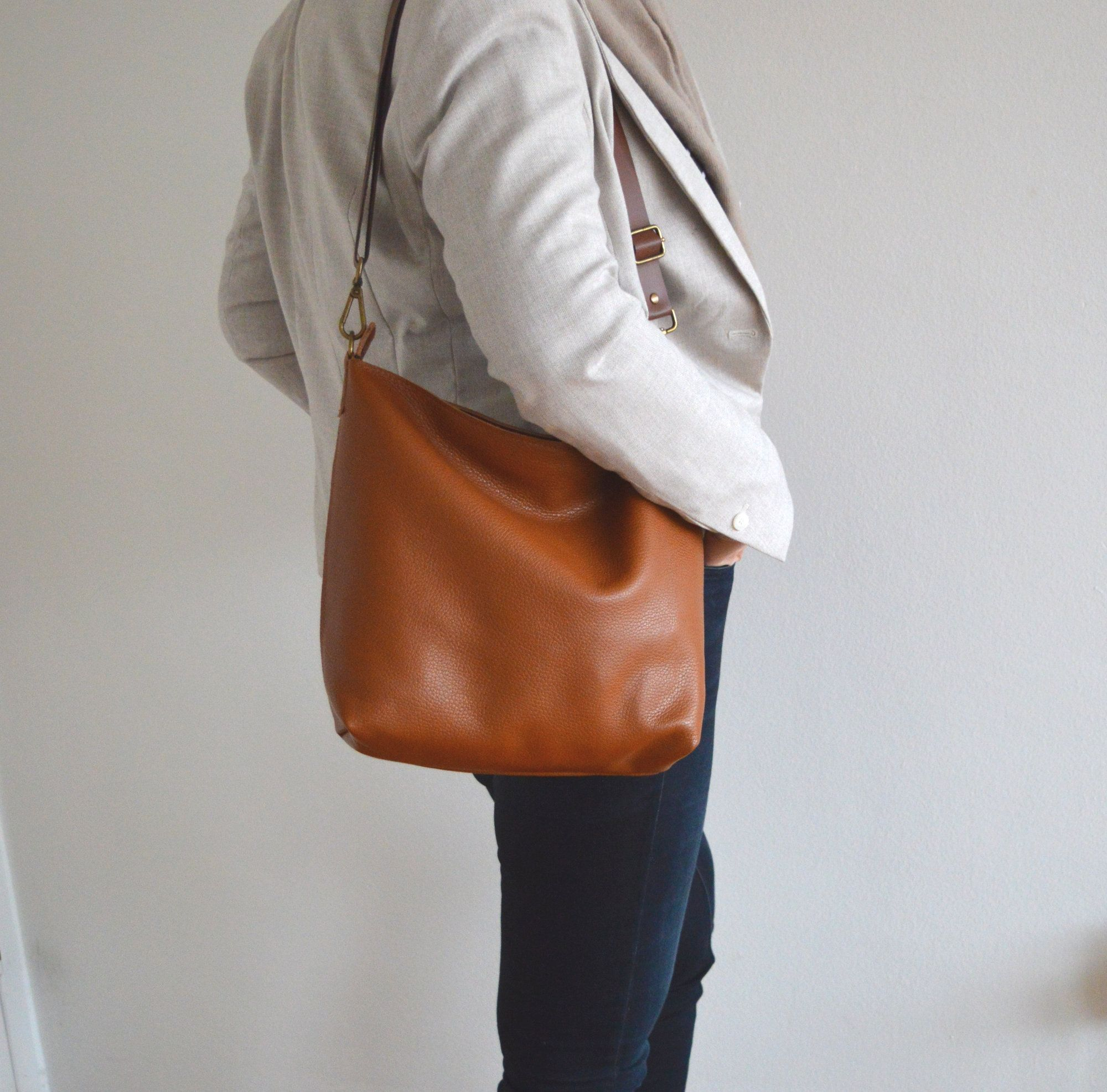 Leather Cross Body Bag Handmade Genuine Leather Purse Gift for Her Boho Bag Tan Leather Leather Sling Bag Zipper Bag Handbag